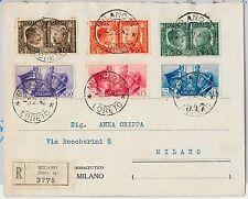 ITALIA REGNO: storia postale - Sass 452 / 457 su BUSTA RACCOMANDATA -- LORETO!