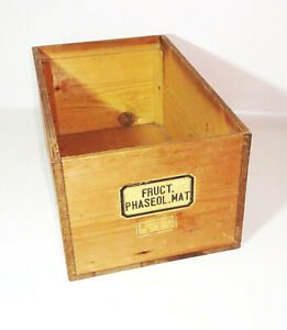 Vintage Holzkiste 27,5x45,5x21 cm alte Apothekerkiste Regal Deko Aufbewahrung