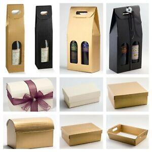 Silk Rectangular Hamper Gift Box Lid Trays & Wine Boxes Wedding Christmas Gift