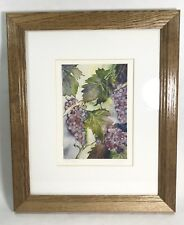 """Kathleen Moore """"Clusters"""" 1998 Watercolor Photo Print Frame And Matted"""