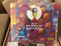 FIFA PANINI BOX 2002 TRADING CARDS WORLD CUP ZIDANE, RONALDO FACTORY SEALED