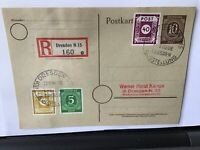 Germany 1946 Dresden Registerd allied occupation stamps card R28161