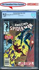 AMAZING SPIDER-MAN #265 75¢ VARIANT CBCS 9.2 NM- CANADIAN NEWSSTAND KEY 1'ST APP