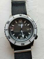 reloj ALTANUS BISEL blanco ESFERA negra carbono  7911N 200m diver