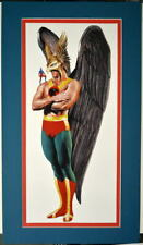 HAWKMAN & ATOM PRINT Professionally MATTED Alex Ross