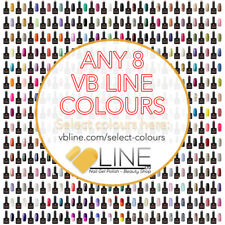 VB™ Line Any 8 Colours Nail Gel Polish - Top and Base coat available Starter set