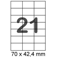 2100 Etiketten 70x42,4 mm Internetmarke Format wie Zweckform 3652 Herma 5054 A4