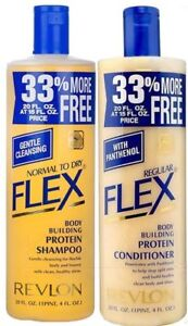 Revlon Flex Body Building Shampoo & Regular Conditioner 592 ml / 20 oz SET OF 2