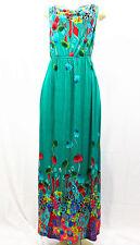 7011 Floral-Women-Long-Maxi-summer-beach-hawaiian-Boho-casual-sundress-M TEAL