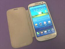Samsung Galaxy S3 III 16GB Smartphone White Cracked Screen Glass - Fully Working