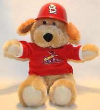 ST LOUIS CARDINALS BASEBALL MLB Plush Stuffed Bear Shirt Batting Helmet Genuine