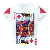 King Diamond Playing Card White T-shirt [fresh unique graffiti poker hipster]