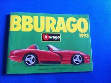 Bburago Prospekt Katalog 1993 Ferrari Jaguar MB Alfa Porsche Bugatti Viper