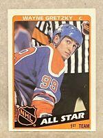 1984-85 Topps #154 Wayne Gretzky 1st Team All Star Edmonton Oilers HOF
