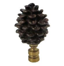BROWN RESIN PINECONE LAMP SHADE FINIAL