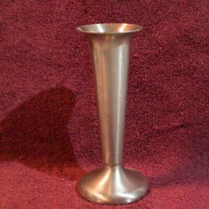 """Vintage Modern Art Pewter 5.25"""" Flute Vase"""