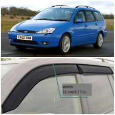 Wide Window Visors Side Sun Guard Vent Deflectors For Ford Focus Wagon 1998-2004