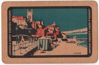 Playing Cards Single Card Old LNER Railway Train Advertising Art Picture CROMER