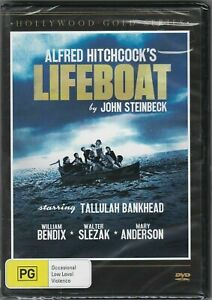 Lifeboat - DVD (Alfred Hitchcock/John Steinbeck) Region 4 PAL t190