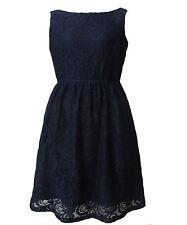 Women Cocktail Black Lace Boat Neck Skater Dress Size 16 18 20 NEW plus size