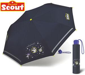 Scout Kinder Regenschirm mit Reflektionsstreifen leicht Space Astronaut Weltall