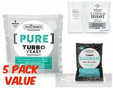 Pure TRIPLE Distilled Turbo Yeast Pack - 5 Pack -Still Spirits HomeBrew Essence