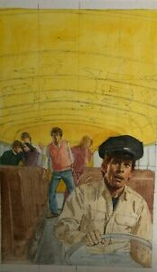 """oil painting original study book cover """"RANSOM """" by stuart kaufman"""