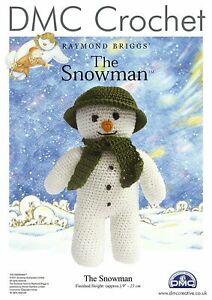 DMC The Snowman Raymond Briggs Christmas Crochet Pattern 15005L/64
