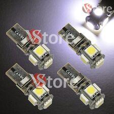 4 LED T10 Lampade 5SMD No Errore BIANCO Xenon CANBUS Per Targa Posizione Luci