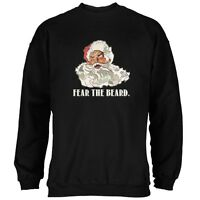Christmas Santa Beard Black Adult Sweatshirt