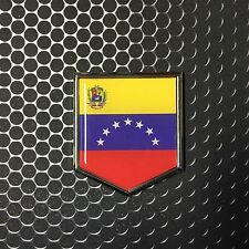 "Venezuela Flag Domed CHROME Emblem Proud Caracas Flag Car 3D Sticker 2""x 2.25"""