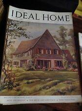IDEAL HOME AGOSTO 1947 RIVISTA ORIGINALE VINTAGE ARREDAMENTO HOME GARDENING