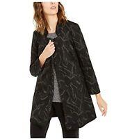Alfani Women's Glitter Patterned Cape Style Coat, Black, Size L, $110, NwT