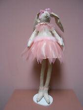 "bella lux ballerina rabbit stands 30"" tall"