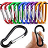 5X Snap Key Chain Keychain Clip Carabiner Outdoor Buckle Split D-Ring Hook Camp