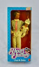 1984 Mattel The Heart Family Barbie Dad & Baby Black