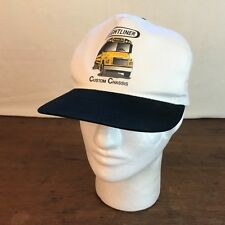 Freightliner Custom Chassis Mens White Cotton Snapback Cap CH9