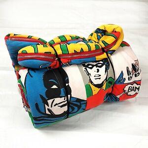 1970s Batman Sleeping Bag, DC Comics, 1975 Vintage TV Cartoons Children Robin