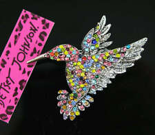 New Lovely Rhinestone color  Bird Charm Brooch Pin Gift Betsey Johnson