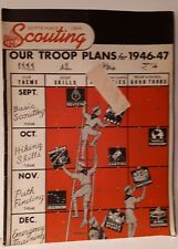 """*RARE """"SEPTEMBER 1946 SCOUTING"""" AMERICAN BOY SCOUTS MAGAZINE INFORMATION & ADS"""