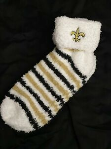New Orleans Saints NFL Women's Soft Fuzzy Stripe Socks