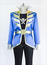 Free shipping Kaizoku Sentai Gokaiger Gokai Blue Cosplay Costume