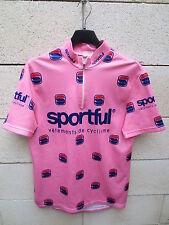 VINTAGE Maillot cycliste SPORTFUL cyclisme rose shirt jersey oldschool pink M