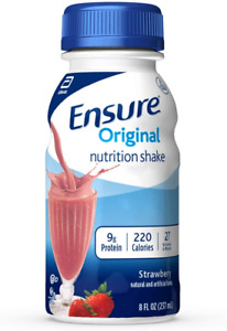 Ensure Original Nutrition Shake With 9g of Protein, Meal Replacement Shakes, 8