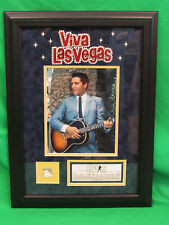 Elvis Presley Viva Las Vegas Framed 8x10 Photograph with Hollywood Sign w COA
