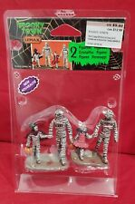 Lemax Spooky Town Trick or Treating with Mummy and Deady #62423 NIP Dated 2016