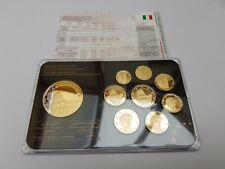 9 Different Euro coins Prestige Set Excellent Condition Specimen Trial Italy