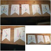 Personalised/Bespoke Peter Rabbit Bunting Party Birthday Christening Handmade