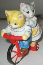 Kitty Cucumber JP Buster on Bike 1988 Schmid Figurine Bicycle Catchin a Ride