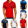 Men Polo Shirts Dri-Fit Short Sleeve Golf Sports Casual T Shirt Jersey Tees Tops